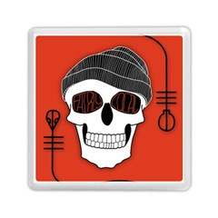 Poster Twenty One Pilots Skull Memory Card Reader (square)  by Onesevenart