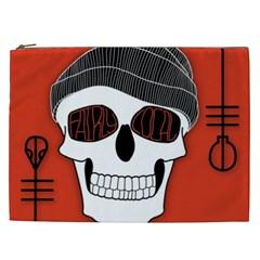Poster Twenty One Pilots Skull Cosmetic Bag (xxl)  by Onesevenart