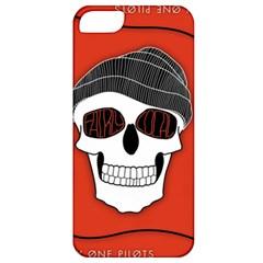 Poster Twenty One Pilots Skull Apple Iphone 5 Classic Hardshell Case by Onesevenart