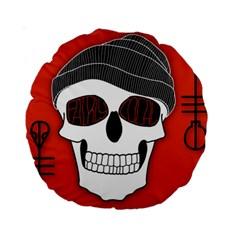 Poster Twenty One Pilots Skull Standard 15  Premium Round Cushions by Onesevenart