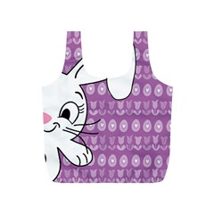 Easter Bunny  Full Print Recycle Bags (s)  by Valentinaart
