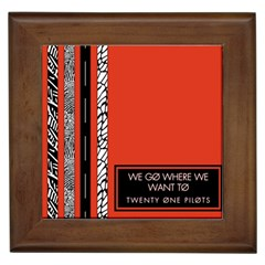 Poster Twenty One Pilots We Go Where We Want To Framed Tiles by Onesevenart