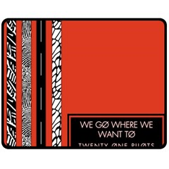 Poster Twenty One Pilots We Go Where We Want To Double Sided Fleece Blanket (medium)  by Onesevenart