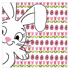 Easter Bunny  Large Satin Scarf (square) by Valentinaart