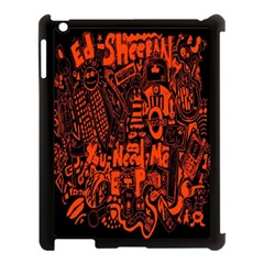 Ed Sheeran Apple Ipad 3/4 Case (black) by Onesevenart