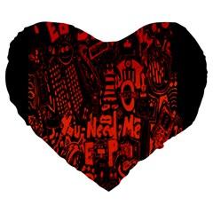 Ed Sheeran Large 19  Premium Heart Shape Cushions by Onesevenart