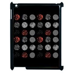 Digital Art Dark Pattern Abstract Orange Black White Twenty One Pilots Apple Ipad 2 Case (black) by Onesevenart