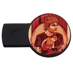 Ed Sheeran Illustrated Tour Poster USB Flash Drive Round (4 GB) by Onesevenart