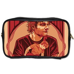 Ed Sheeran Illustrated Tour Poster Toiletries Bags 2-Side by Onesevenart