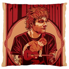 Ed Sheeran Illustrated Tour Poster Large Flano Cushion Case (two Sides) by Onesevenart