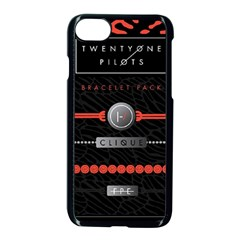 Twenty One Pilots Event Poster Apple Iphone 7 Seamless Case (black) by Onesevenart