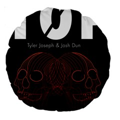 Twenty One Pilots Event Poster Large 18  Premium Round Cushions by Onesevenart