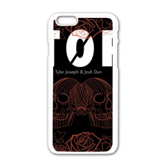 Twenty One Pilots Event Poster Apple iPhone 6/6S White Enamel Case by Onesevenart