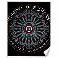 Twenty One Pilots Canvas 12  X 16   by Onesevenart