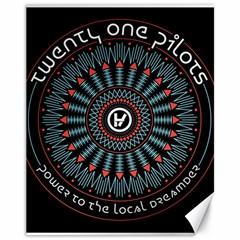 Twenty One Pilots Canvas 11  x 14   by Onesevenart