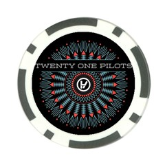 Twenty One Pilots Poker Chip Card Guard by Onesevenart