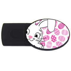 Easter Bunny  Usb Flash Drive Oval (2 Gb) by Valentinaart