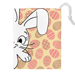Easter Bunny  Drawstring Pouches (xxl) by Valentinaart