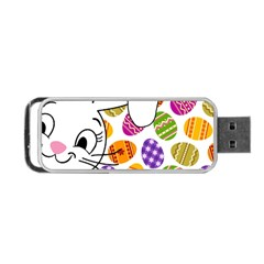 Easter Bunny  Portable Usb Flash (two Sides) by Valentinaart
