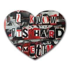 Top Lyrics Twenty One Pilots The Run And Boys Heart Mousepads by Onesevenart