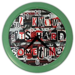 Top Lyrics Twenty One Pilots The Run And Boys Color Wall Clocks by Onesevenart