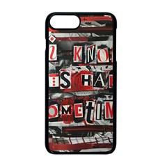 Top Lyrics Twenty One Pilots The Run And Boys Apple Iphone 7 Plus Seamless Case (black) by Onesevenart