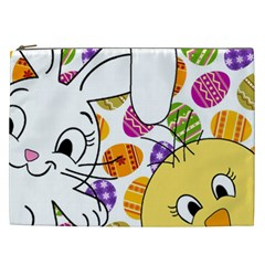 Easter Bunny And Chick  Cosmetic Bag (xxl)  by Valentinaart