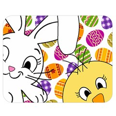 Easter Bunny And Chick  Double Sided Flano Blanket (medium)  by Valentinaart