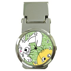 Easter Bunny And Chick  Money Clip Watches by Valentinaart