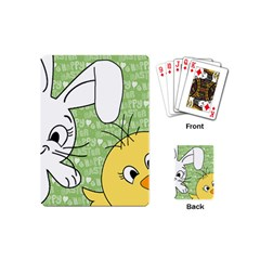 Easter Bunny And Chick  Playing Cards (mini)  by Valentinaart