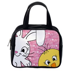 Easter Bunny And Chick  Classic Handbags (one Side) by Valentinaart