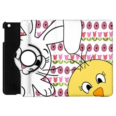 Easter Bunny And Chick  Apple Ipad Mini Flip 360 Case by Valentinaart