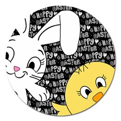Easter Bunny And Chick  Magnet 5  (round) by Valentinaart