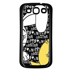 Easter Bunny And Chick  Samsung Galaxy S3 Back Case (black) by Valentinaart
