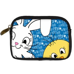 Easter Bunny And Chick  Digital Camera Cases by Valentinaart