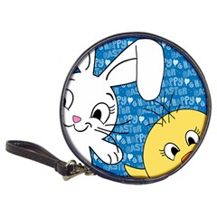 Easter Bunny And Chick  Classic 20 Cd Wallets by Valentinaart