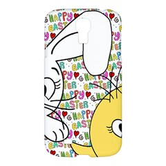 Easter Bunny And Chick  Samsung Galaxy S4 I9500/i9505 Hardshell Case by Valentinaart