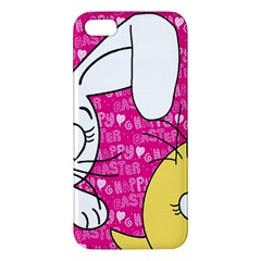 Easter Bunny And Chick  Iphone 5s/ Se Premium Hardshell Case by Valentinaart