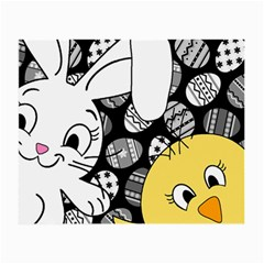 Easter bunny and chick  Small Glasses Cloth by Valentinaart