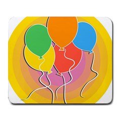 Birthday Party Balloons Colourful Cartoon Illustration Of A Bunch Of Party Balloon Large Mousepads by Nexatart