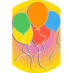 Birthday Party Balloons Colourful Cartoon Illustration Of A Bunch Of Party Balloon 5 5  X 8 5  Notebooks by Nexatart