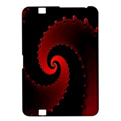 Red Fractal Spiral Kindle Fire Hd 8 9  by Nexatart