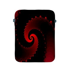 Red Fractal Spiral Apple Ipad 2/3/4 Protective Soft Cases by Nexatart