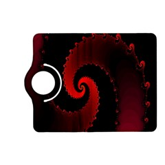 Red Fractal Spiral Kindle Fire Hd (2013) Flip 360 Case by Nexatart