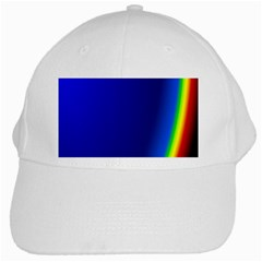 Blue Wallpaper With Rainbow White Cap by Nexatart