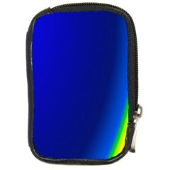 Blue Wallpaper With Rainbow Compact Camera Cases by Nexatart
