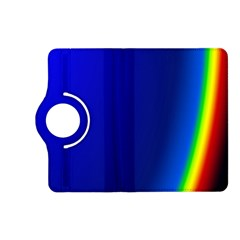 Blue Wallpaper With Rainbow Kindle Fire Hd (2013) Flip 360 Case by Nexatart