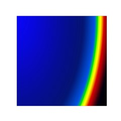 Blue Wallpaper With Rainbow Small Satin Scarf (square) by Nexatart