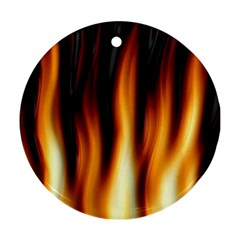 Dark Flame Pattern Ornament (Round)