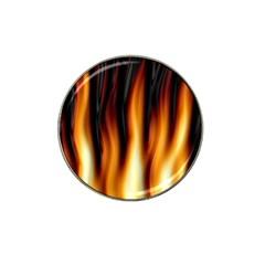 Dark Flame Pattern Hat Clip Ball Marker (10 Pack) by Nexatart